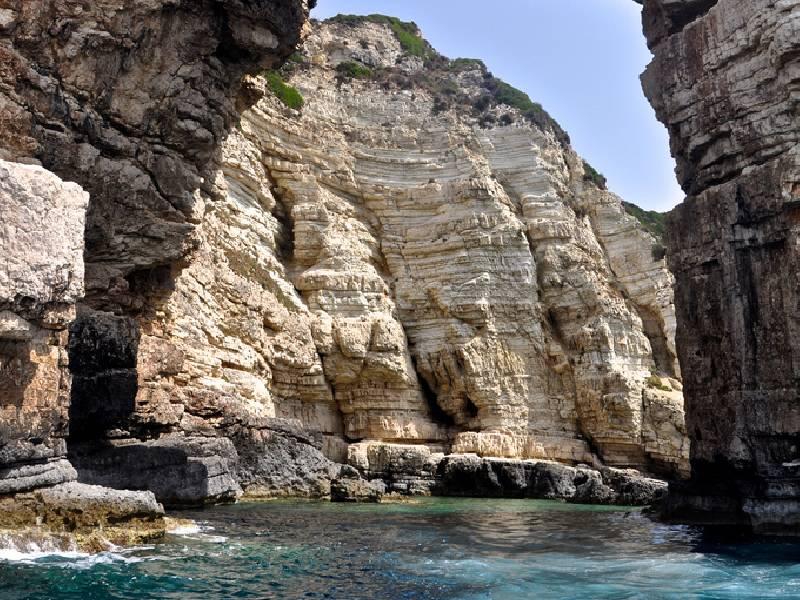 Grotten Von Paxos Auf Paxos