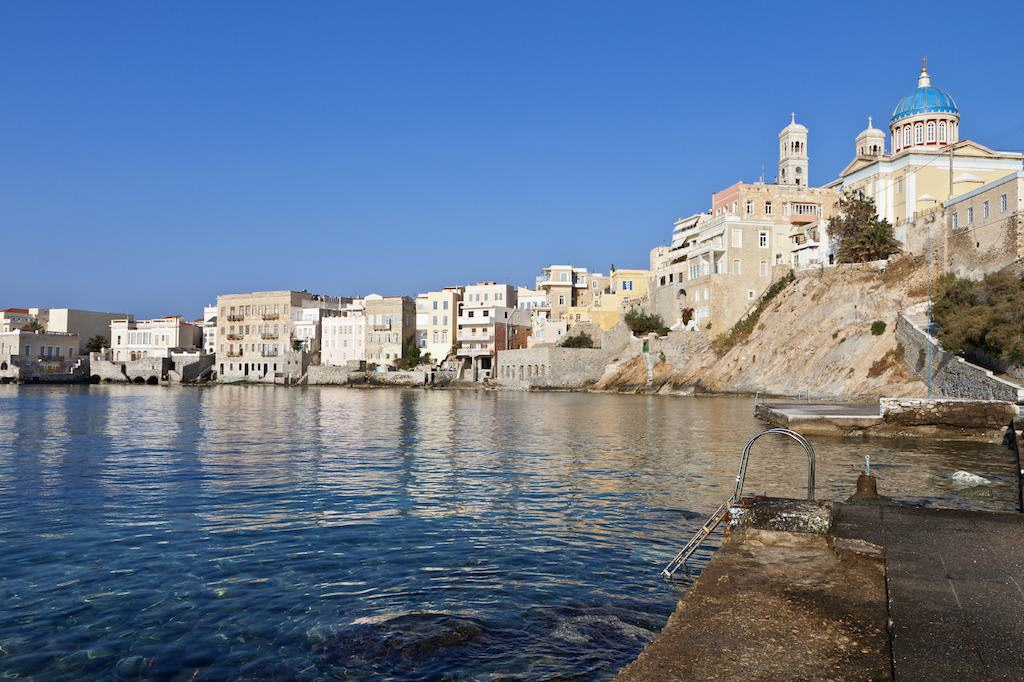 syros urlaub hotels apartments str nde tipps. Black Bedroom Furniture Sets. Home Design Ideas